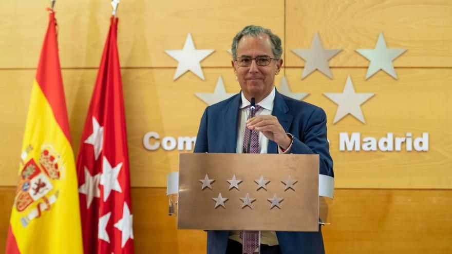 Enrique Ossorio, en rueda de prensa
