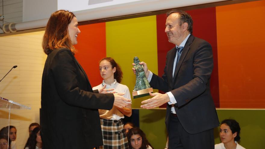 Alberto Reyero durante la entrega de los Reconocimientos Infancia 2019