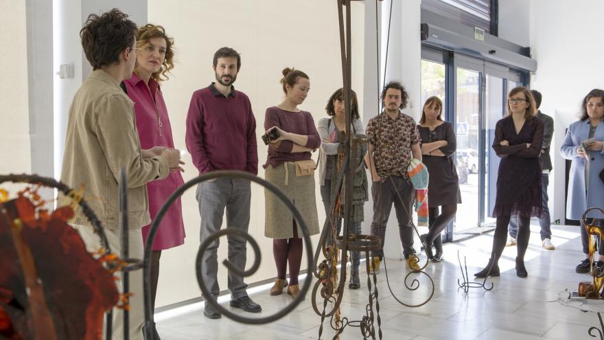 María Pardo en la inauguración de la exposición 'We Are Still Alive, like Hydrogen and Oxygen'