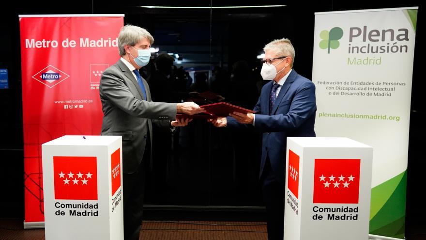 Ángel Garrido durante la presentación del nuevo acuerdo de colaboración con Plena Inclusión Madrid