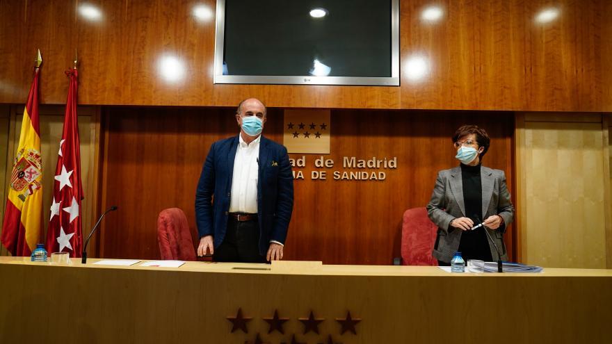 Antonio Zapatero y Elena Andradas evalúan la situación epidemiológica y asistencial de Madrid