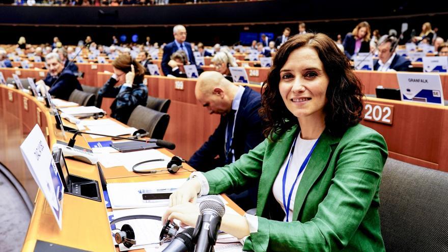 La presidenta Díaz Ayuso en el parlamento del Comité Europeo de las Regiones