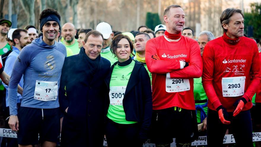 Díaz Ayuso en la IV Carrera Solidaria de la Fundación Real Madrid