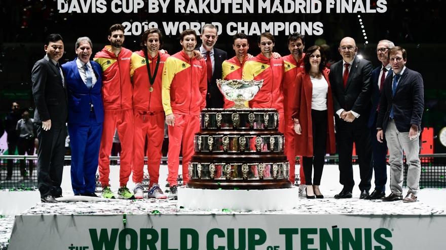 Díaz Ayuso en la entrega de la Copa Davis a España