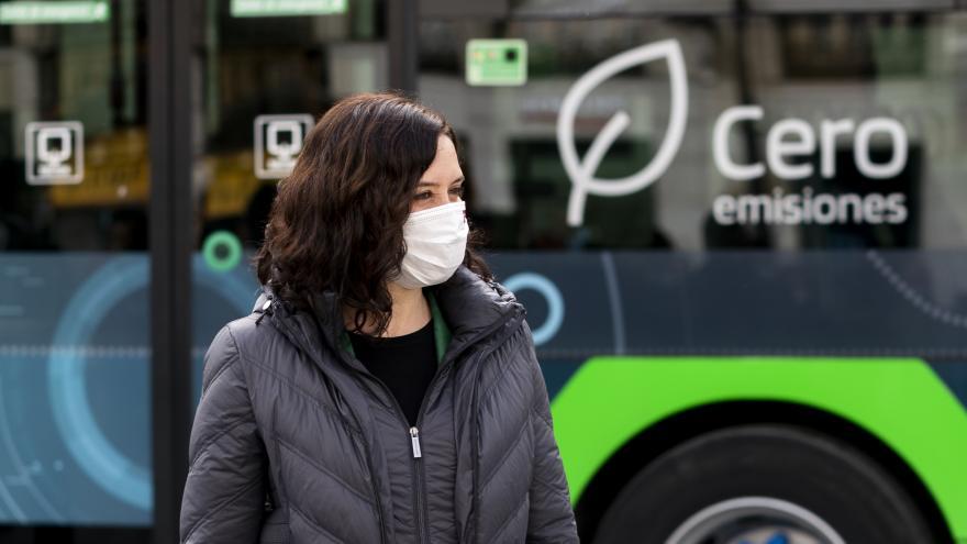 Díaz Ayuso autobús de hidrógeno