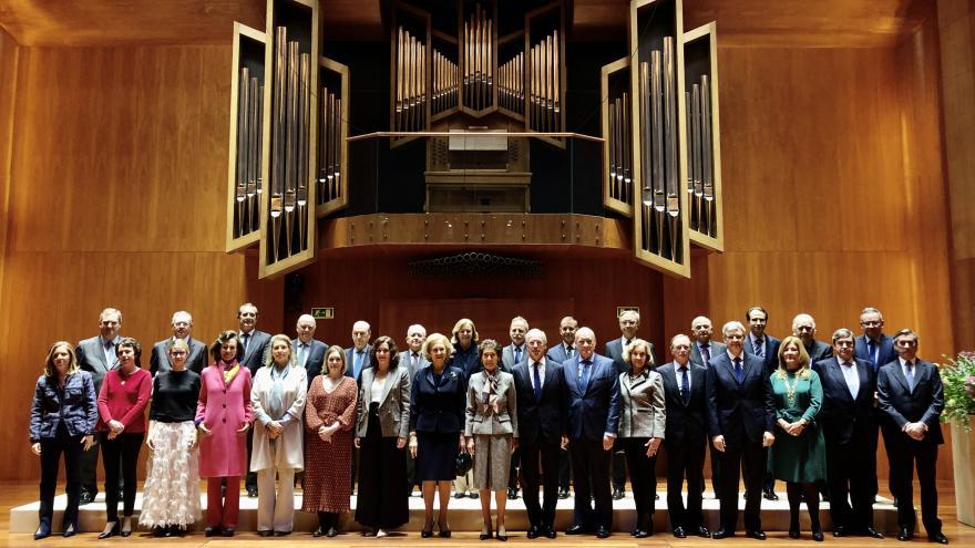 Díaz Ayuso en la Escuela Superioir de Música Reina Sofia