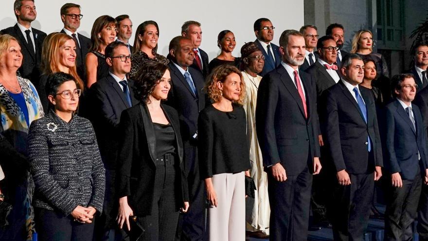 Díaz Ayuso durante el 40 aniversario de Fitur
