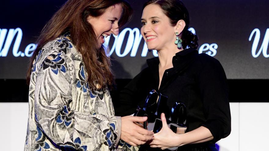 Díaz Ayuso en la gala convocada por la revista Woman