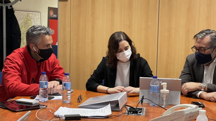 Isabel Díaz Ayuso durante la reunión del PLATERCAM