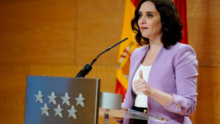 Díaz Ayuso comparece ante los medios de comunicación