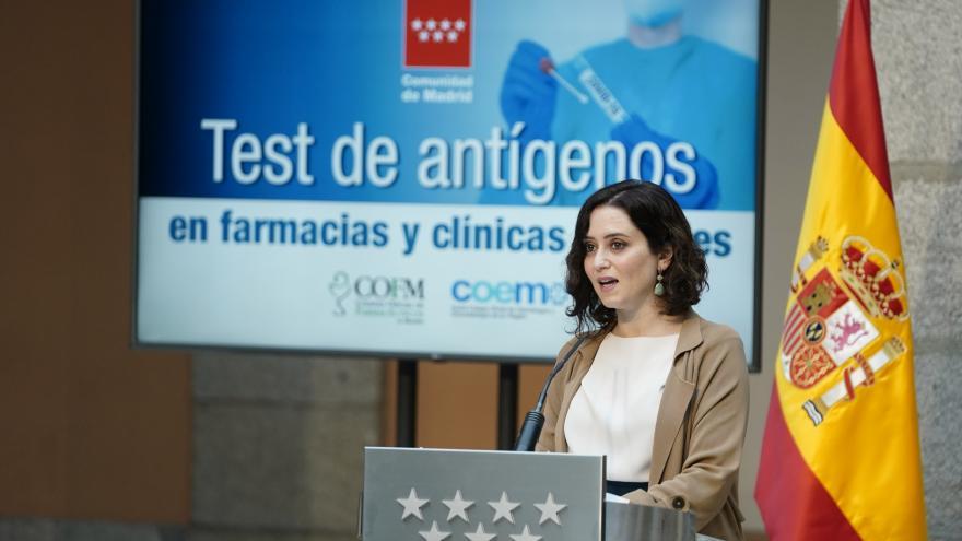 Díaz Ayuso test de antígenos