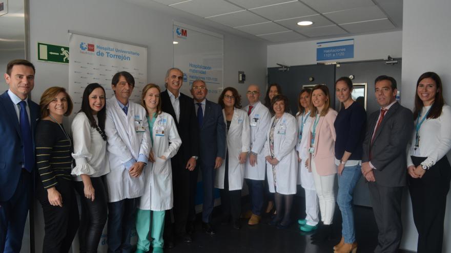 Enrique Ruiz Escudero en el Hospital Universitario de Torrejón