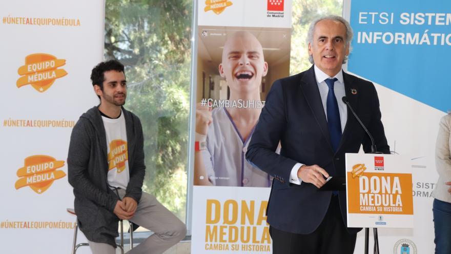 Enrique Ruiz Escudero en el acto celebrado en la Universidad Politécnica de Madrid (UPM)
