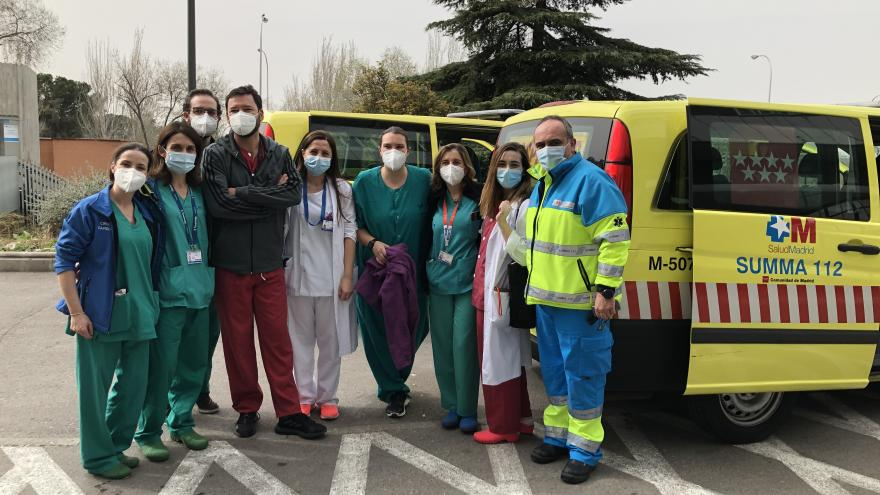 Equipo trasplantes del hospital La Paz