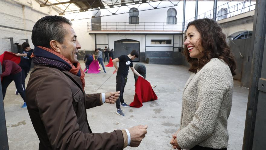 Eugenia Carballedo durante su recorrido por Las Ventas Tour