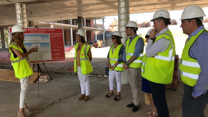 Ibarrola visita las obras de construcción del nuevo edificio judicial de Navalcarnero