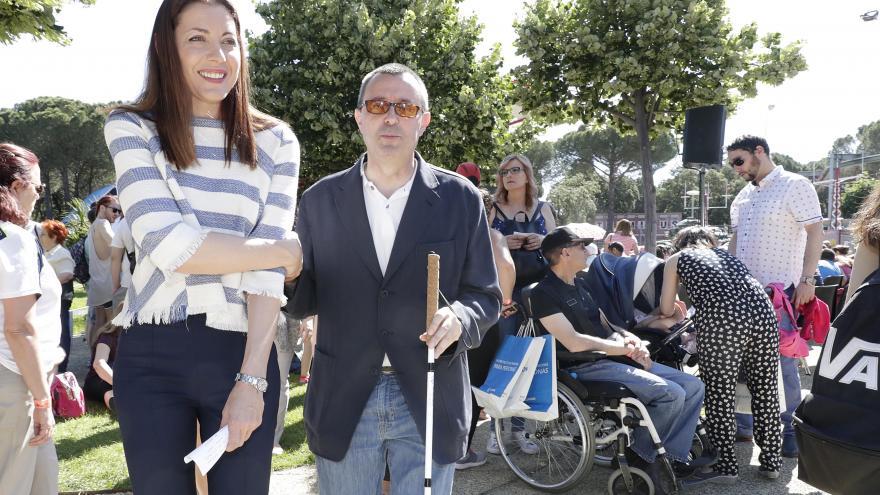 La consejera de Políticas Sociales y Familia ha participado hoy en el tradicional día de la ONCE en el Parque de Atracciones de Madrid