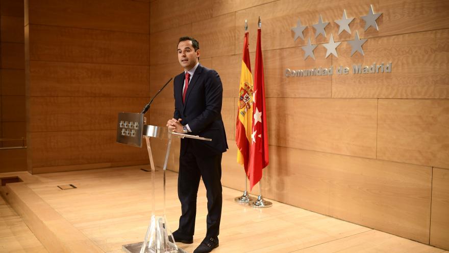 Ignacio Aguado en la Rueda de Prensa del Consejo de Gobierno