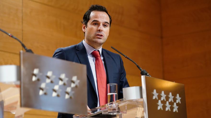 Ignacio Aguado en la rueda de prensa tras el Consejo de Gobierno
