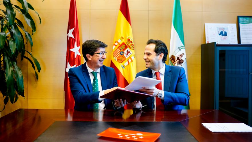 Ignacio Aguado reunido con Juan Marín