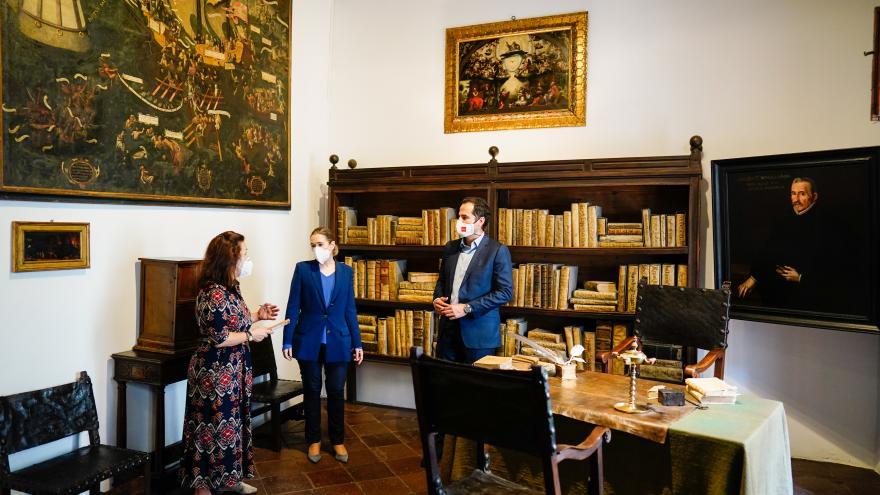 Ignacio Aguado durante su visita a la Casa Museo Lope de Vega