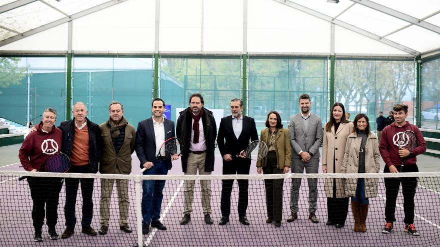 Ignacio Aguado y Enrique López suscriben convenio con la Federación de Tenis de Madrid