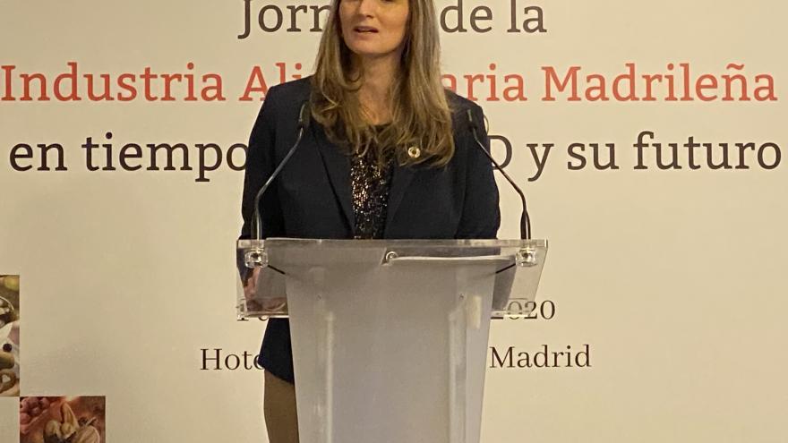 Paloma Martín durante la intervención