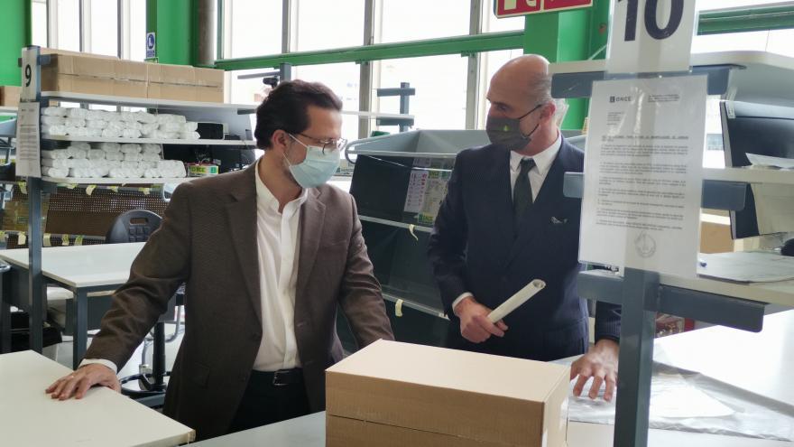 Javier Fernández-Lasquetty ha visitado hoy el Centro Logístico y de Producción de la ONCE