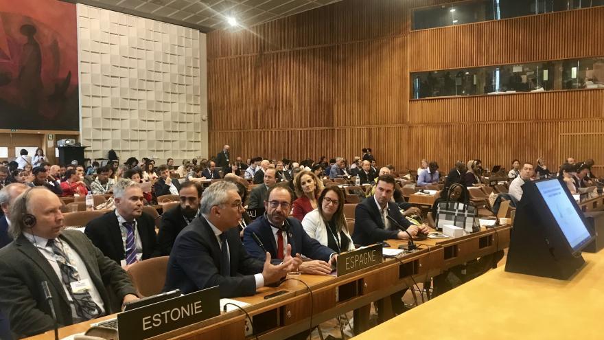 Carlos Izquierdo en la reunión de la 31ª sesión plenaria del Consejo Internacional de Coordinación del Programa Hombre y Biosfera (MAB) de la UNESCO