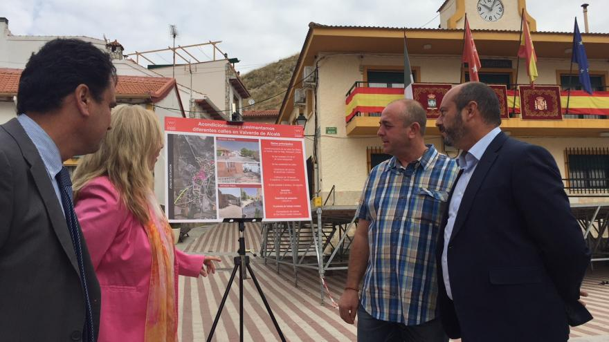 Rollán visita obras realizadas en Valverde de Alcalá y Villar del Olmo con cargo a programas de inversión de la Comunidad de Madrid