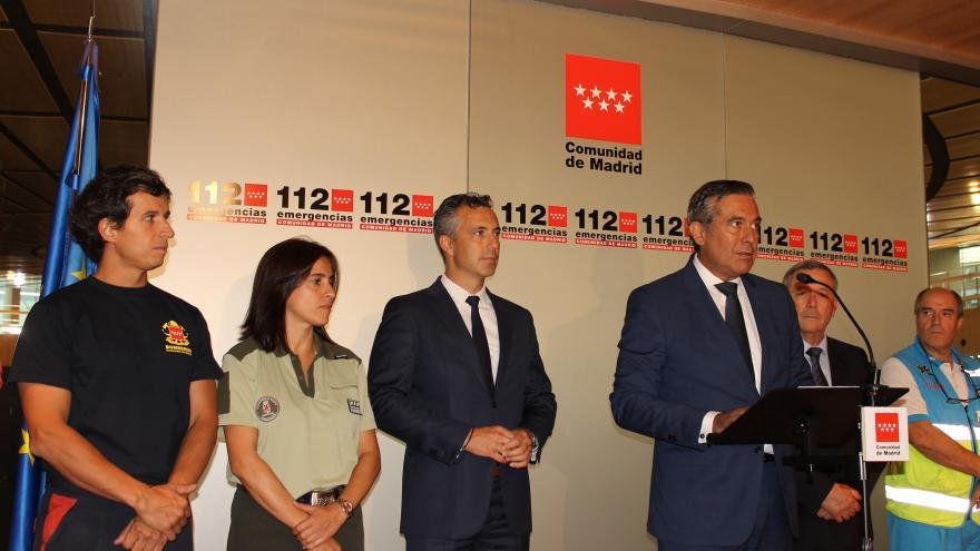 Imagen de Enrique López en la sede de la Agencia de Seguridad y Emergencias Madrid 112