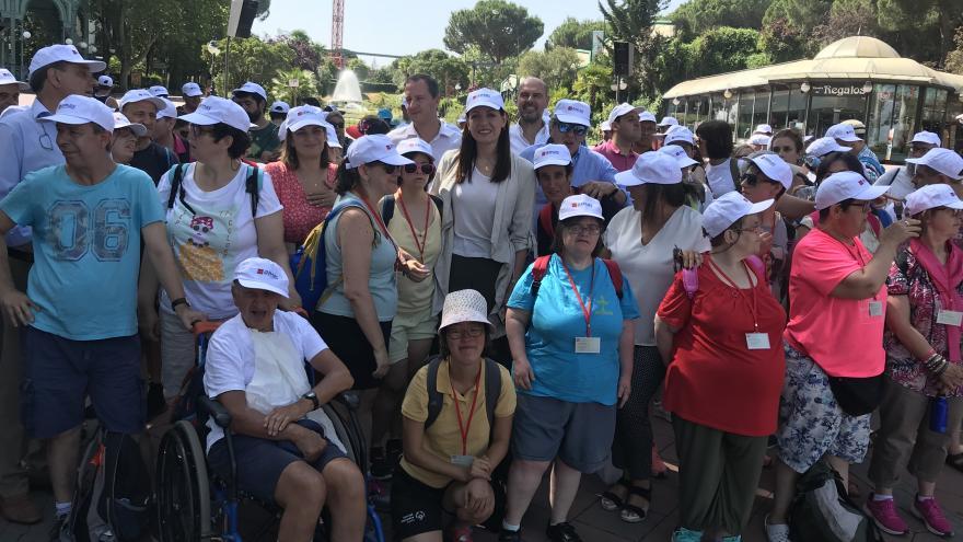 Lola Moreno presenta el Programa de Ocio Vacacional de Centros Ocupacionales de la AMAS