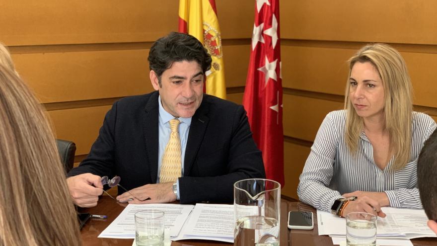 David Pérez durante la reunión