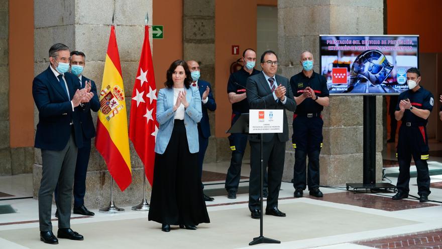 Isabel Díaz Ayuso firma un acuerdo con el Ayuntamiento de Leganés