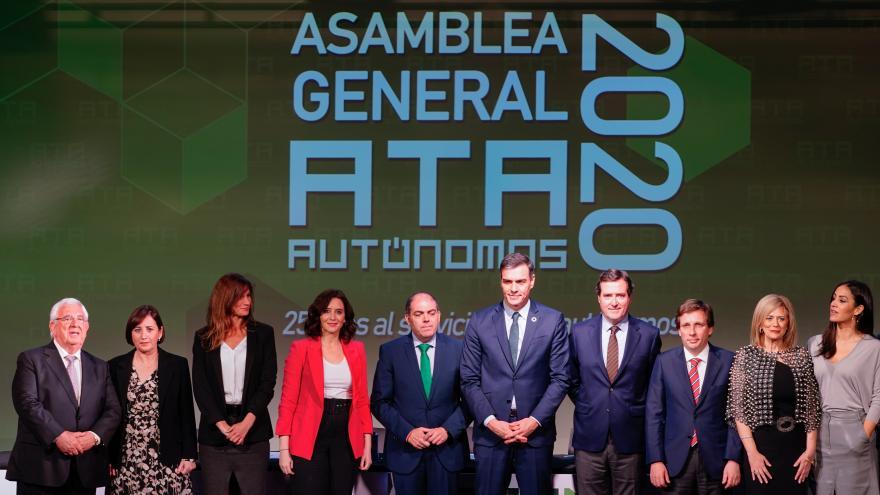 Isabel Díaz Ayuso durante la Asamblea de ATA