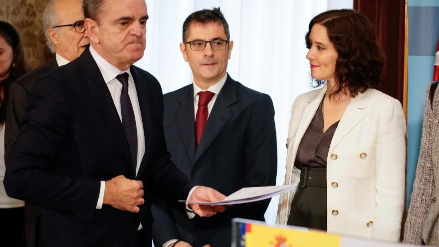 Isabel Díaz Ayuso durante la toma de posesión de José Manuel Franco
