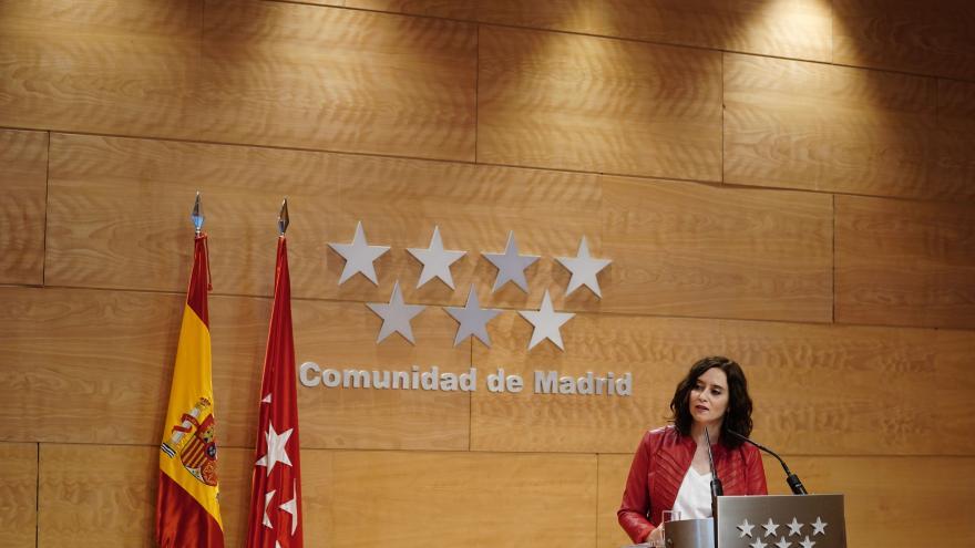 Isabel Díaz Ayuso durante la rueda de prensa posterior al Consejo de Gobierno