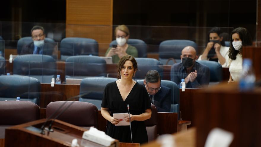 Isabel Díaz Ayuso durante el Pleno de la Asamblea de Madrid
