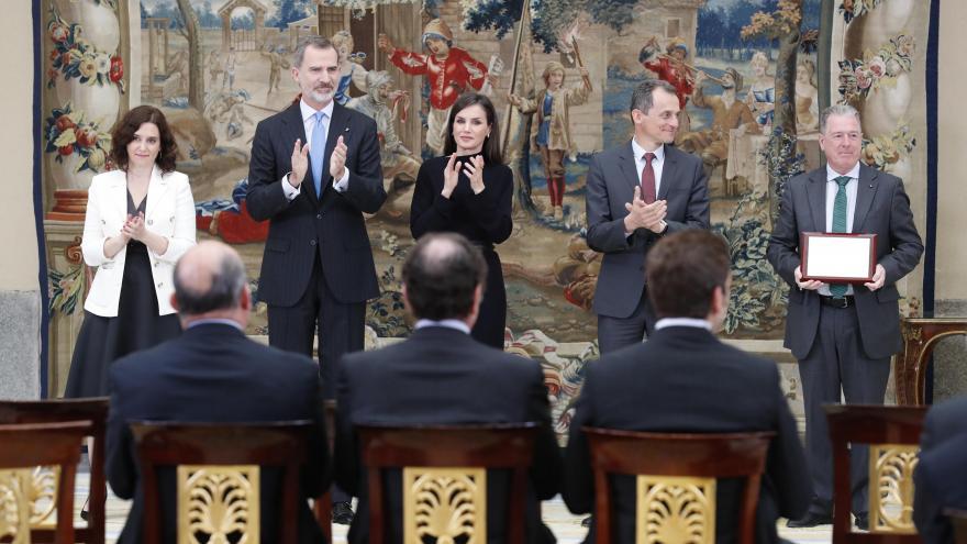 Isabel Díaz Ayuso en la entrega de Premios junto a sus Majestades