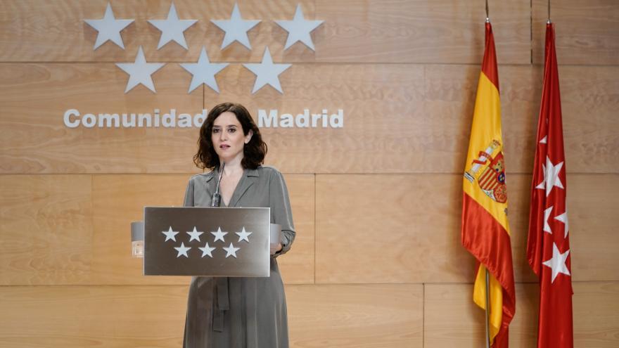 Isabel Díaz Ayuso ofrece una rueda de prensa en la Real Casa de Correos