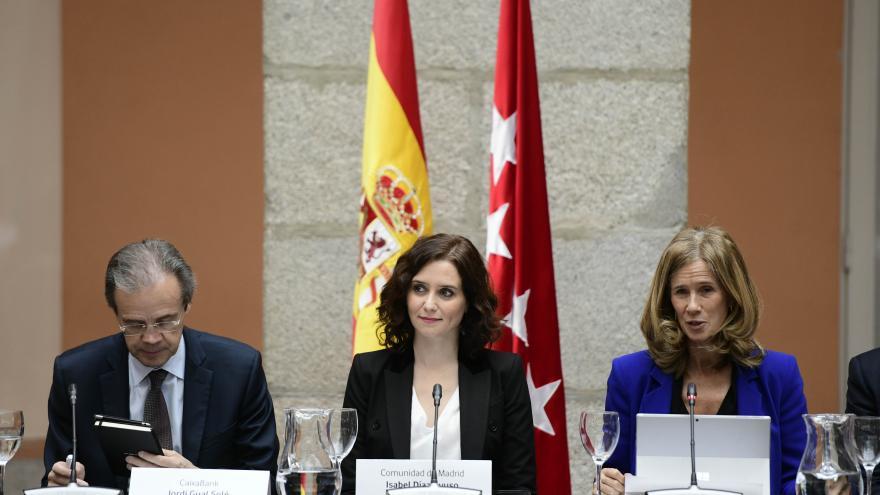 Isabel Díaz Ayuso en la reunión del Patronato de la Fundación COTEC para la innovación