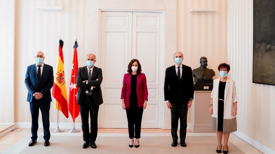 Isabel Díaz Ayuso durante la toma de posesión de la nueva estructura de la Consejería de Sanidad