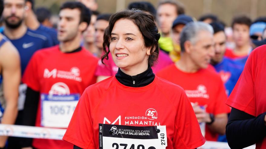 Isabel Díaz Ayuso durante la IX Carrera por la Salud Mental