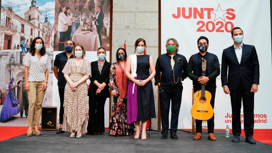 Isabel Díaz Ayuso durante la presentación del plan Juntos 2020