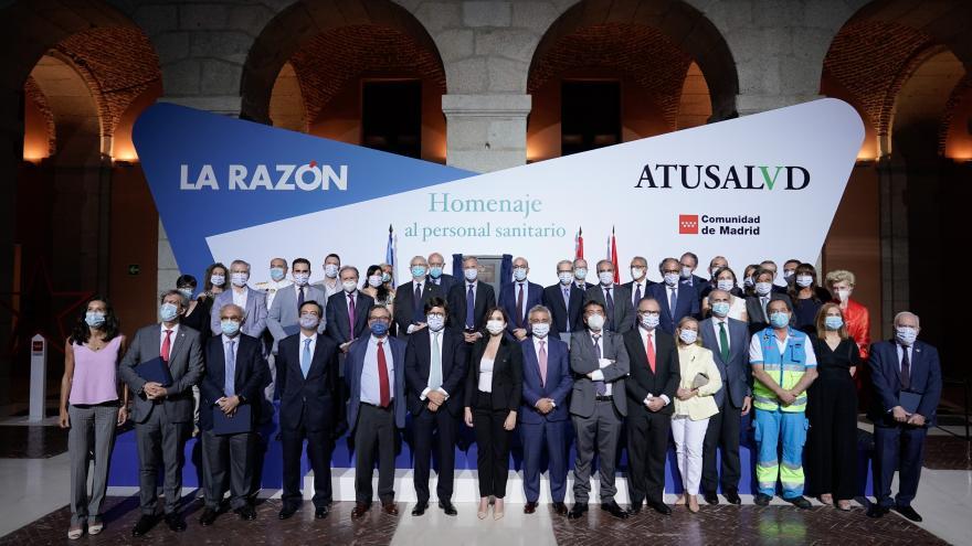 Isabel Díaz Ayuso durante un acto organizado por el diario La Razón