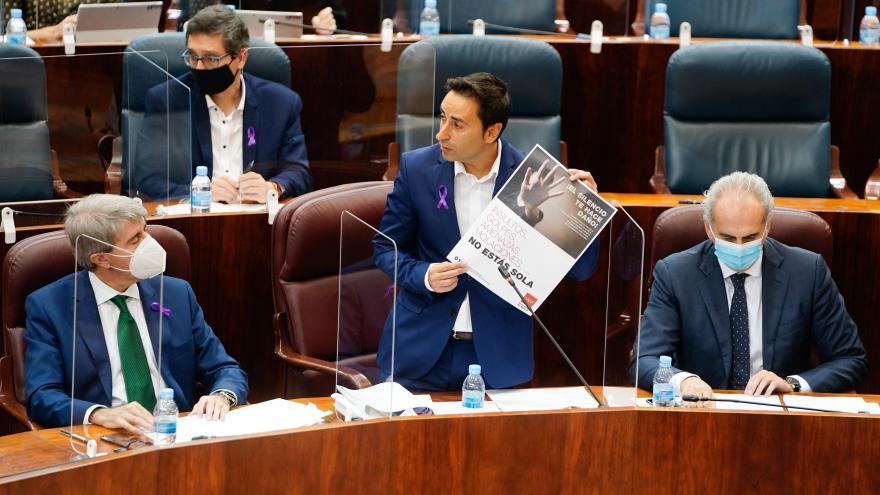 Javier Luengo en la Asamblea de Madrid