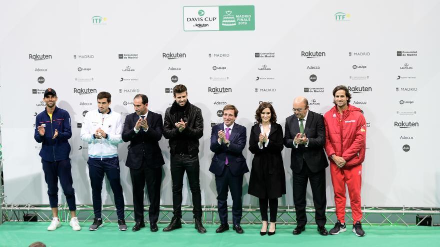 Isabel Diaz Ayuso en la presentación oficial de la Copa Davis