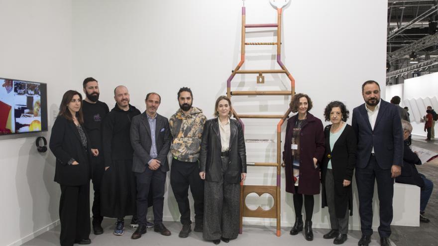 Marta Rivera durante la entrega del premio ARCO Comunidad de Madrid a jóvenes artistas
