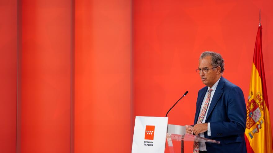 Enrique Ossorio durante la rueda de prensa posterior al Consejo de Gobierno