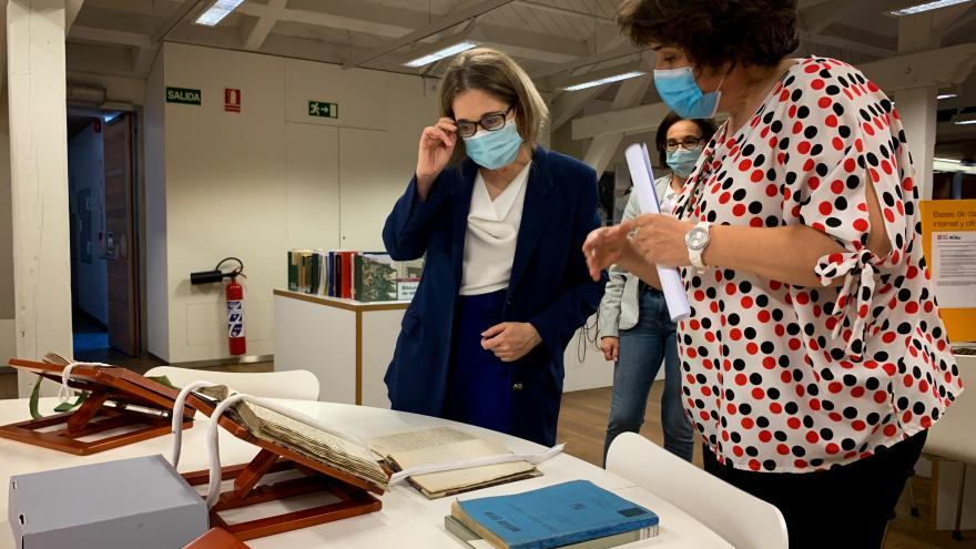 Marta Rivera durante la presentación de la campaña Memorias del COVID-19